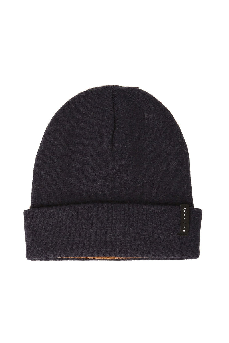 Quarter 4-Way Beanie Navy Blue Rusty - Jean Jail