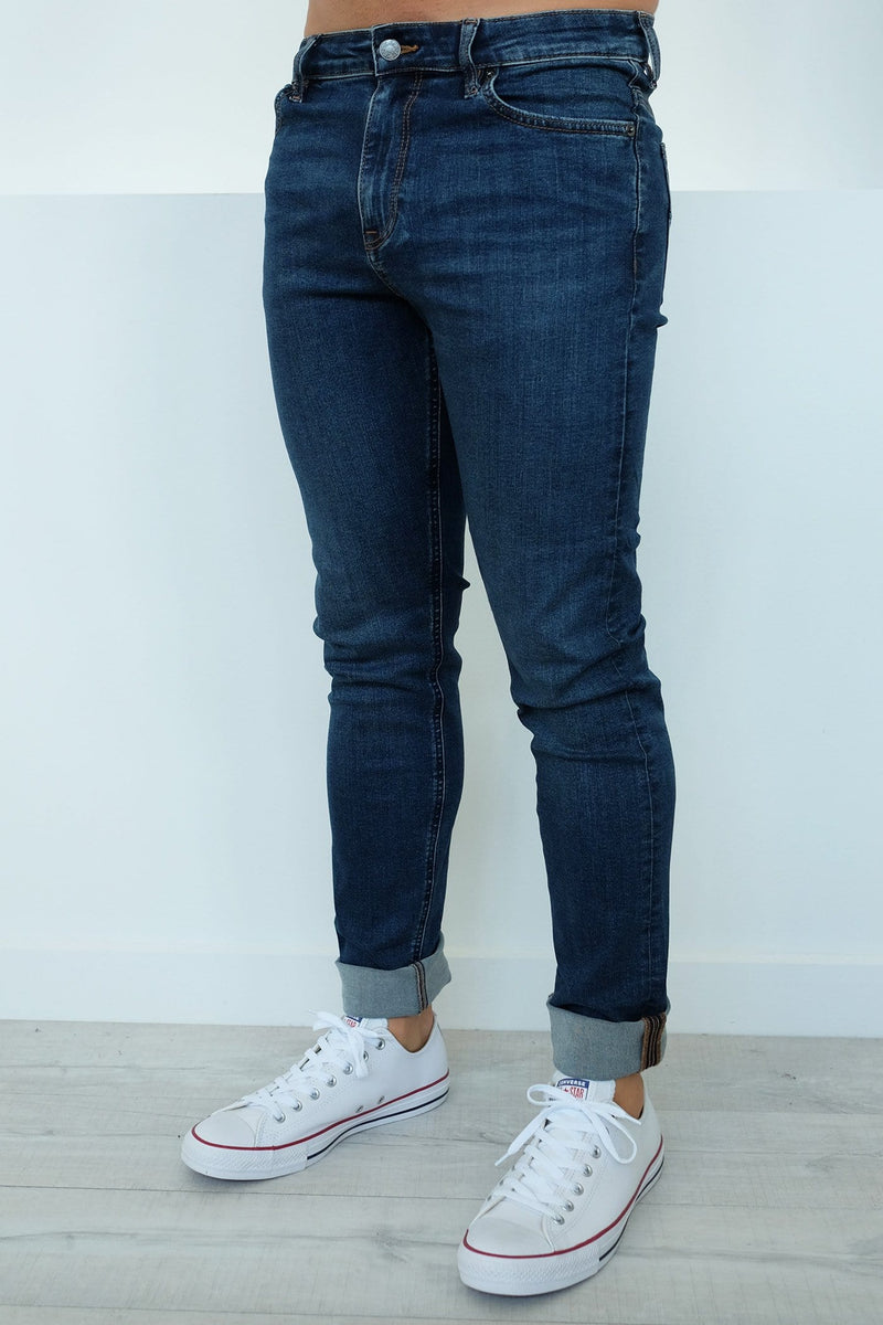 R2 Slim And Narrow Jean Atlantis Blue Riders - Jean Jail