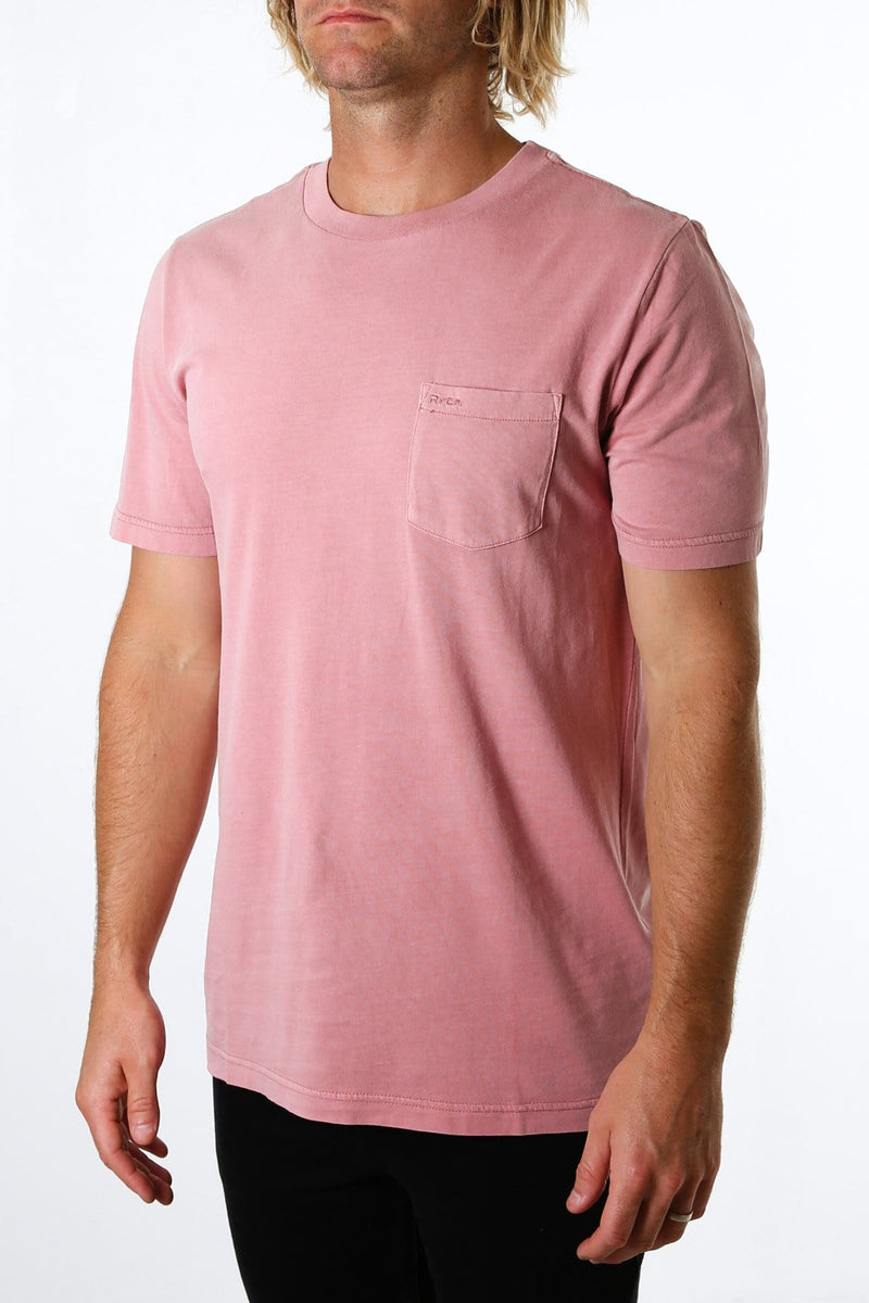 RVCA Pigment Fade SS Tee Dusty Rose