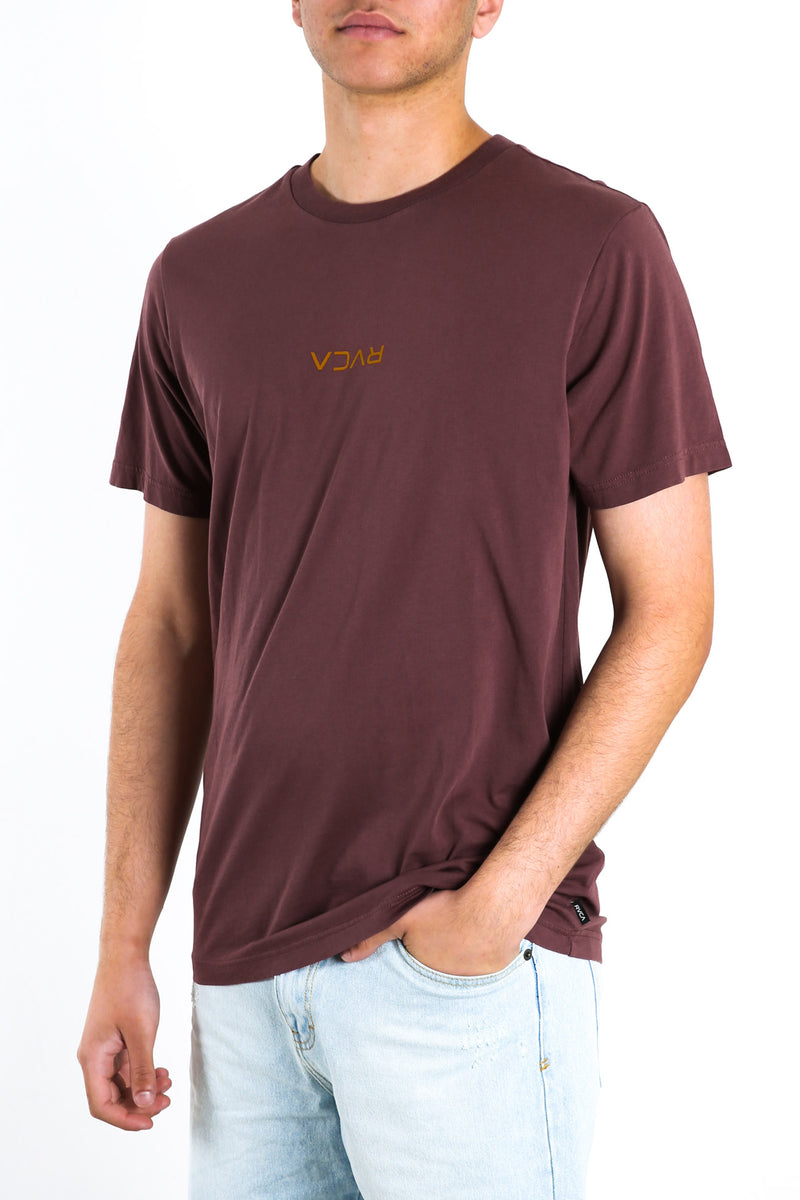 RVCA Mini Flipped Short Sleeve Tee Merlot