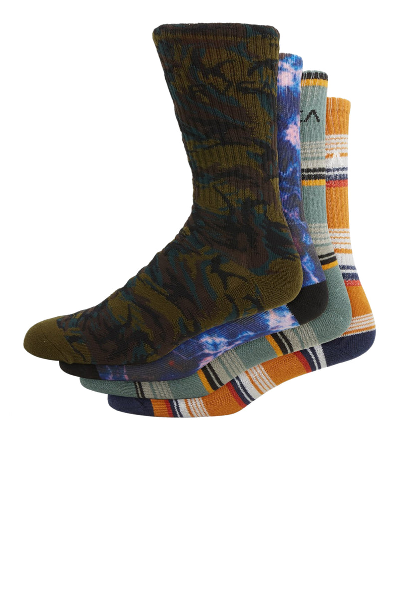 RVCA Seasonal Sock 4 Pack Multi