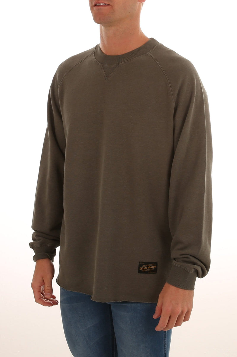 Raw 2 Crew Neck Sweat Dusty Olive Afends - Jean Jail
