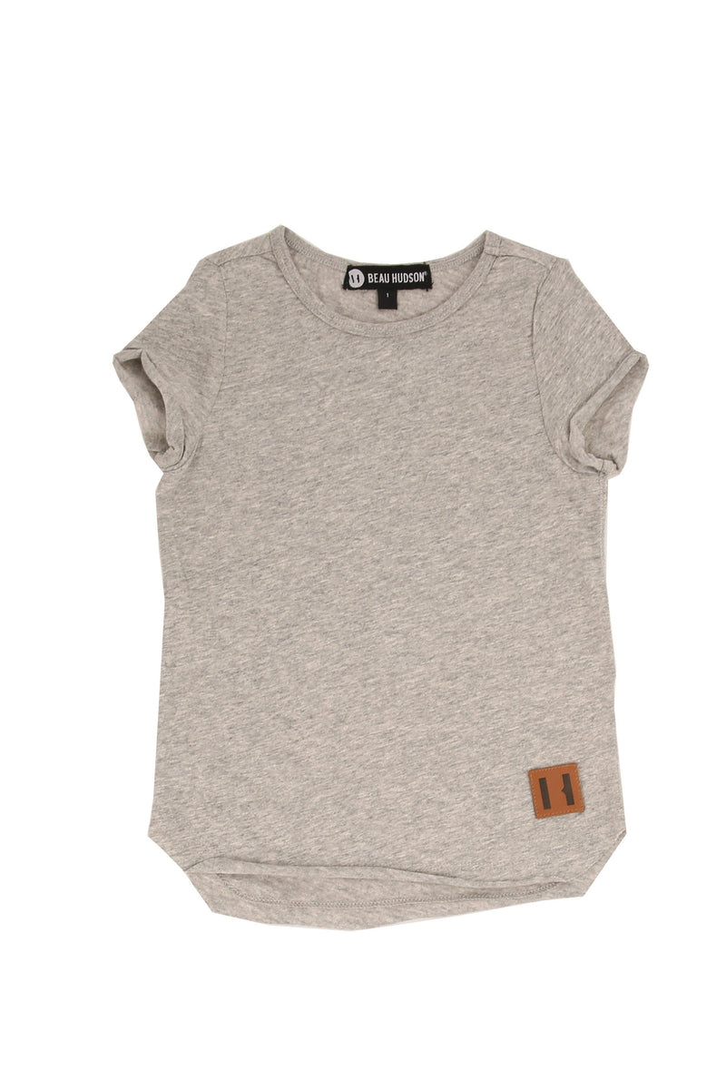 Raw Edge Grey Marle Tall Tee