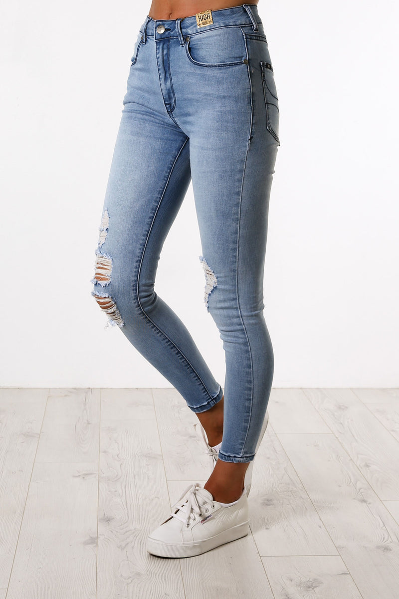Rayna Jean Light Blue Ripped