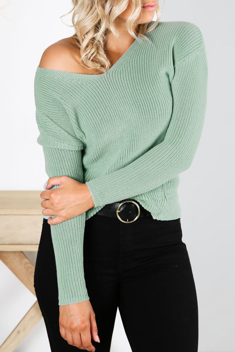 Refined Knit Top Spearmint All About Eve - Jean Jail