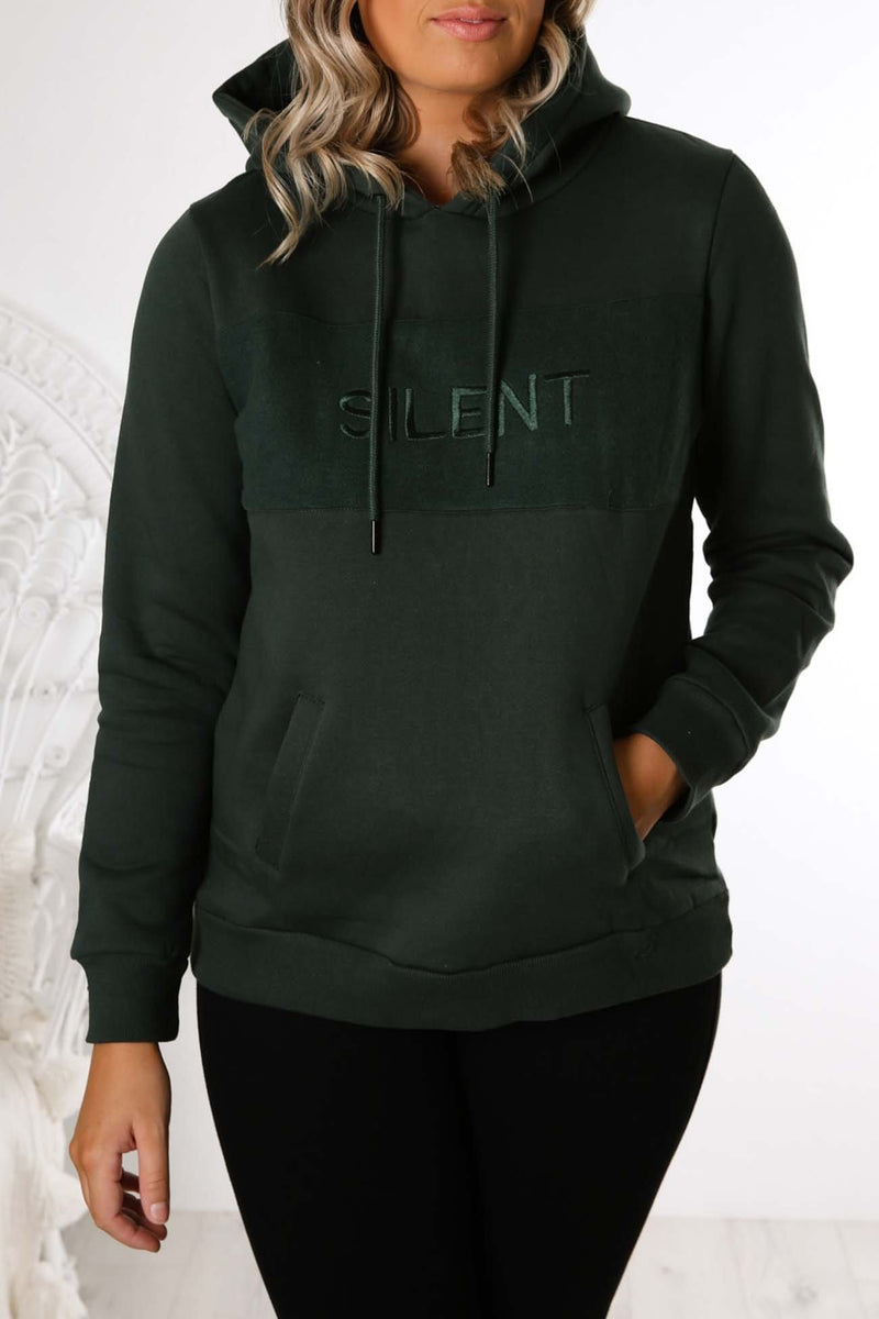 Revive Hoody Bottle Green Silent Theory - Jean Jail