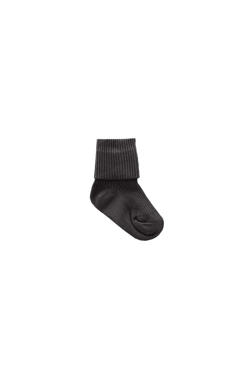 Ribbed Sock Dark Grey