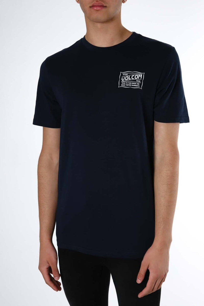Road Test Short Sleeve Tee Navy Volcom - Jean Jail