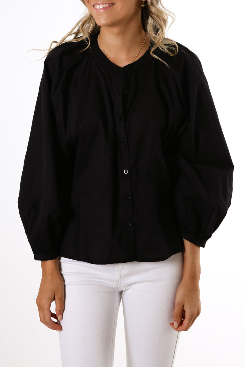 Rosewood 3/4 Sleeve Top Black