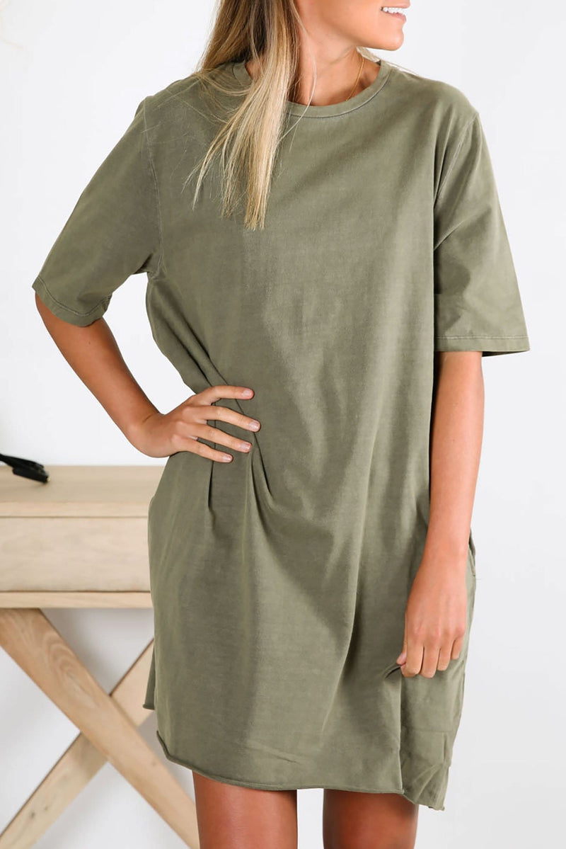 Salvage Dress Khaki Silent Theory - Jean Jail