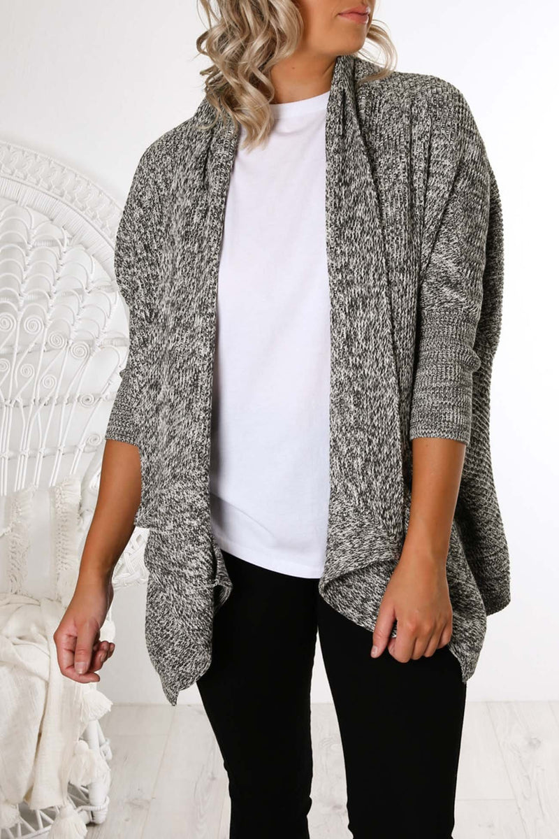 Samantha Knit Cardigan Black White Imonni - Jean Jail