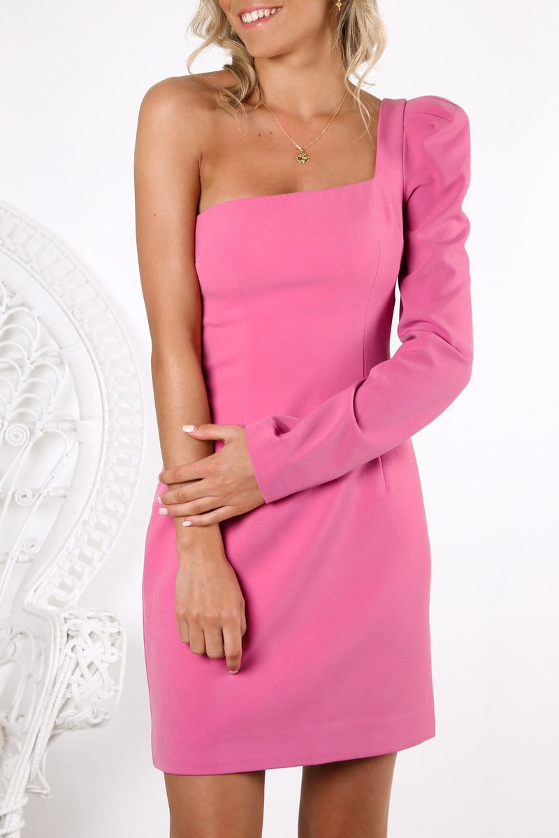 Shell Sleeve Mini Dress Party Pink