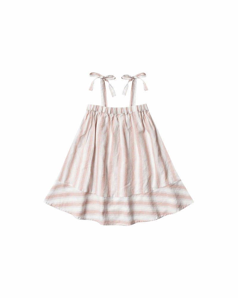 Shoulder Tie Dress Petal Stripe