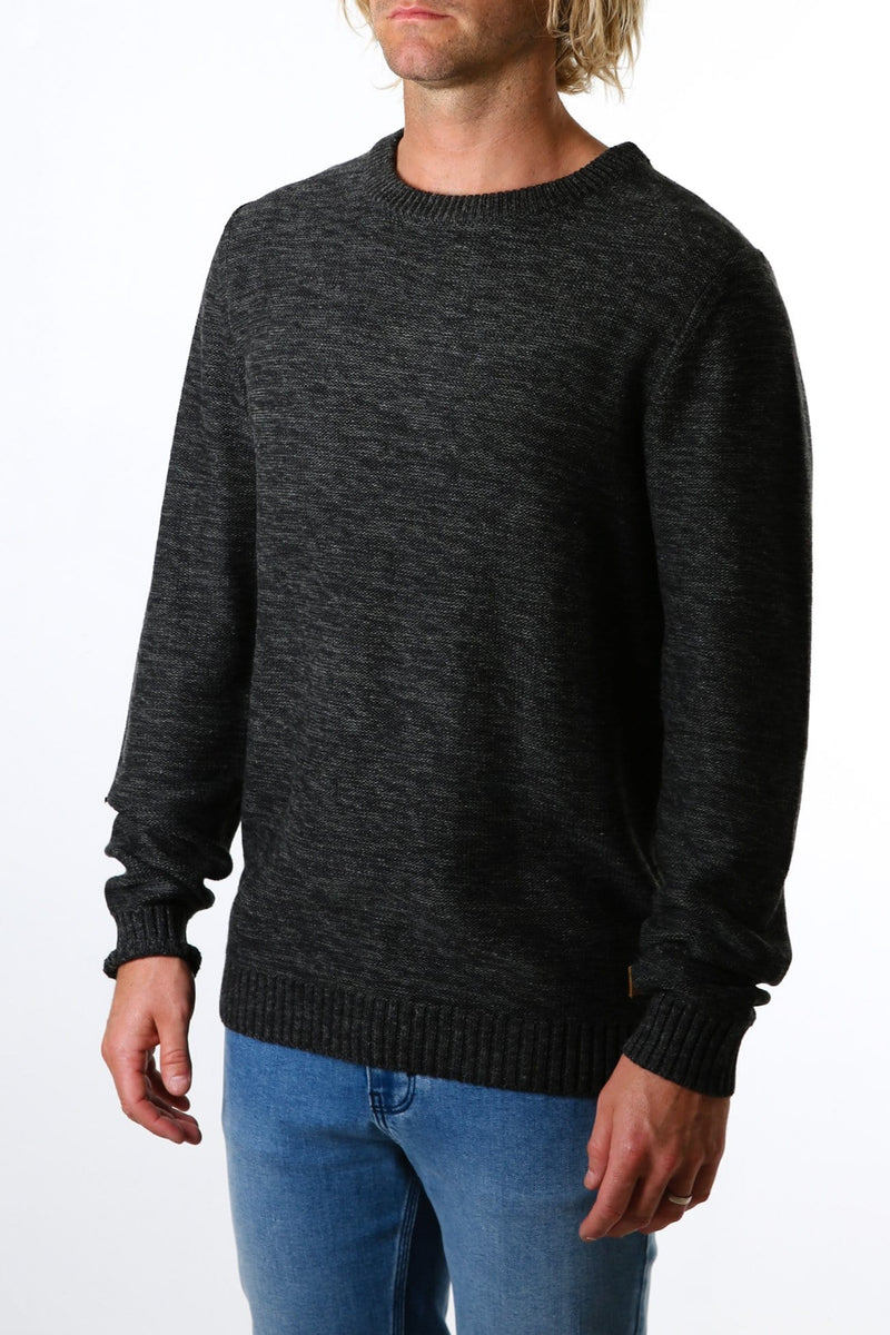 Skyliner Crew Neck Knit Black Marle