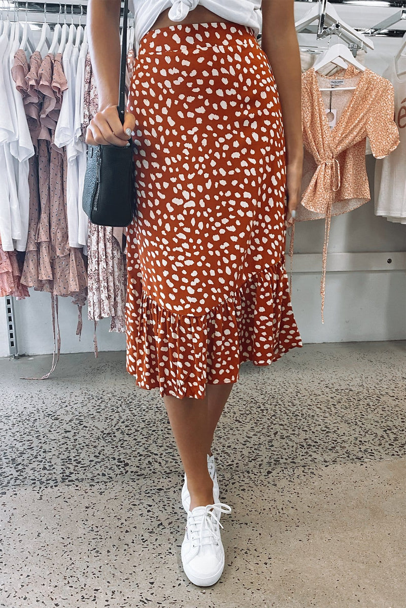 Smart Love Skirt Rust