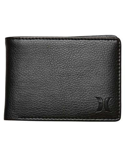Solid Entry PU Wallet Black Hurley - Jean Jail