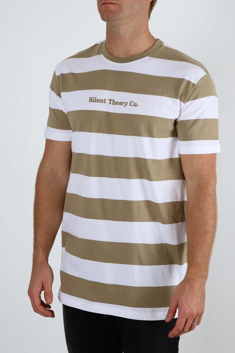 Sonic Stripe Tee Sand Silent Theory - Jean Jail