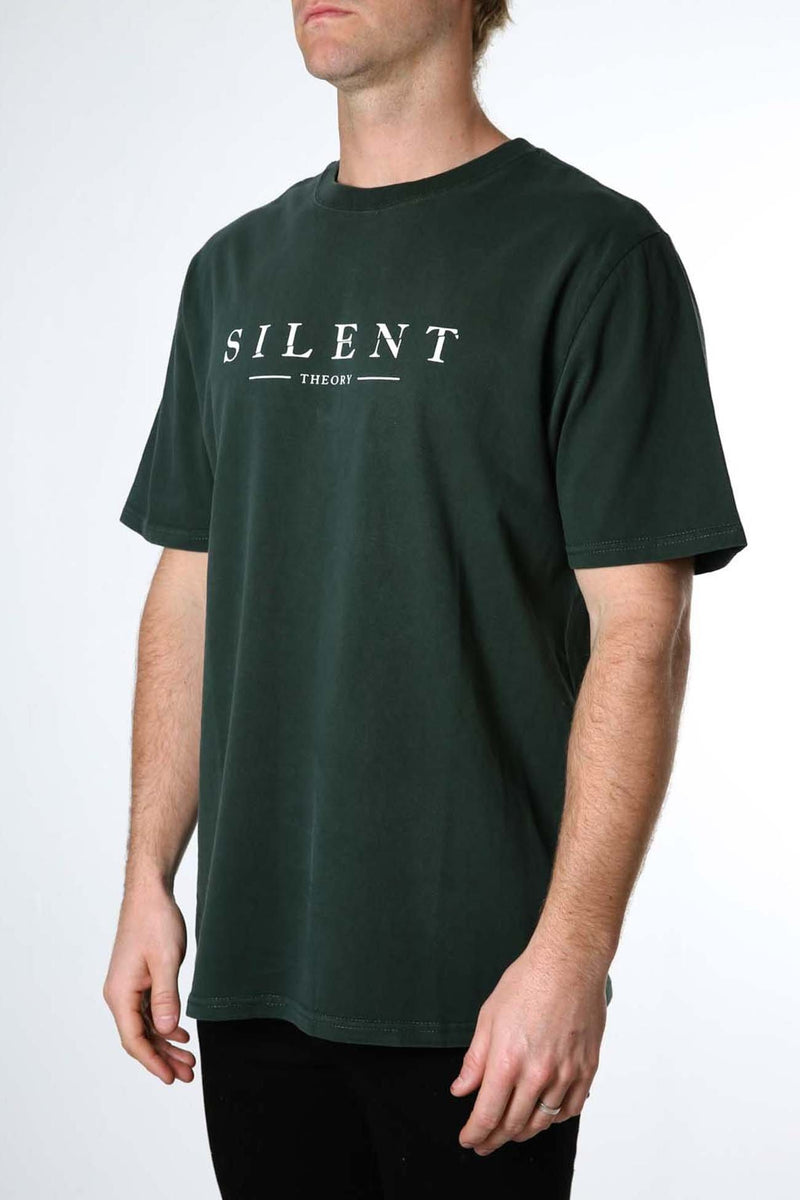 Spell It Out Tee Bottle Green Silent Theory - Jean Jail