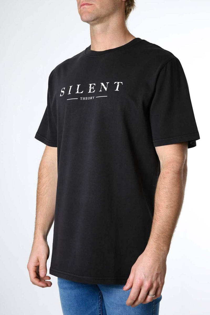 Spell It Out Tee Washed Black Silent Theory - Jean Jail