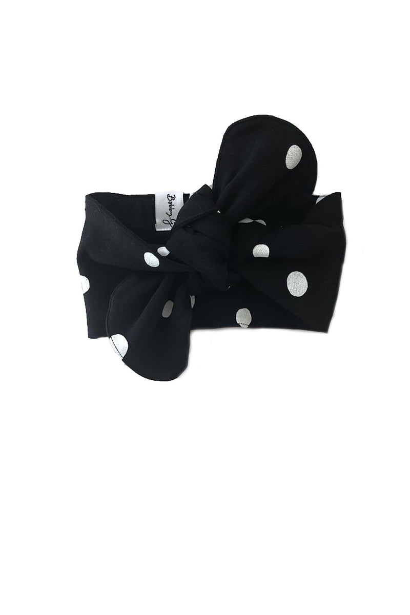 Spotty Headband Black