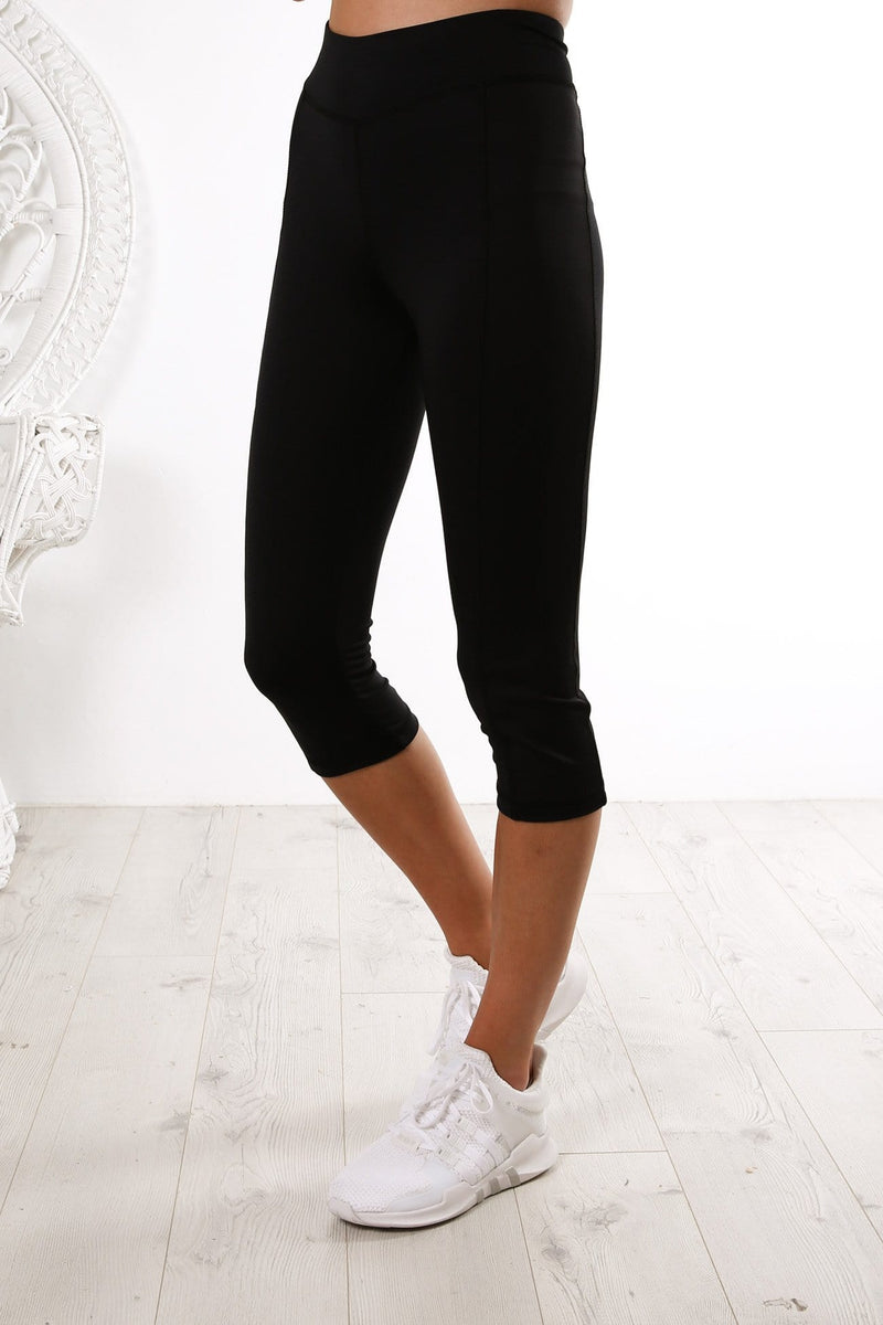 Sprint Crop Legging Black