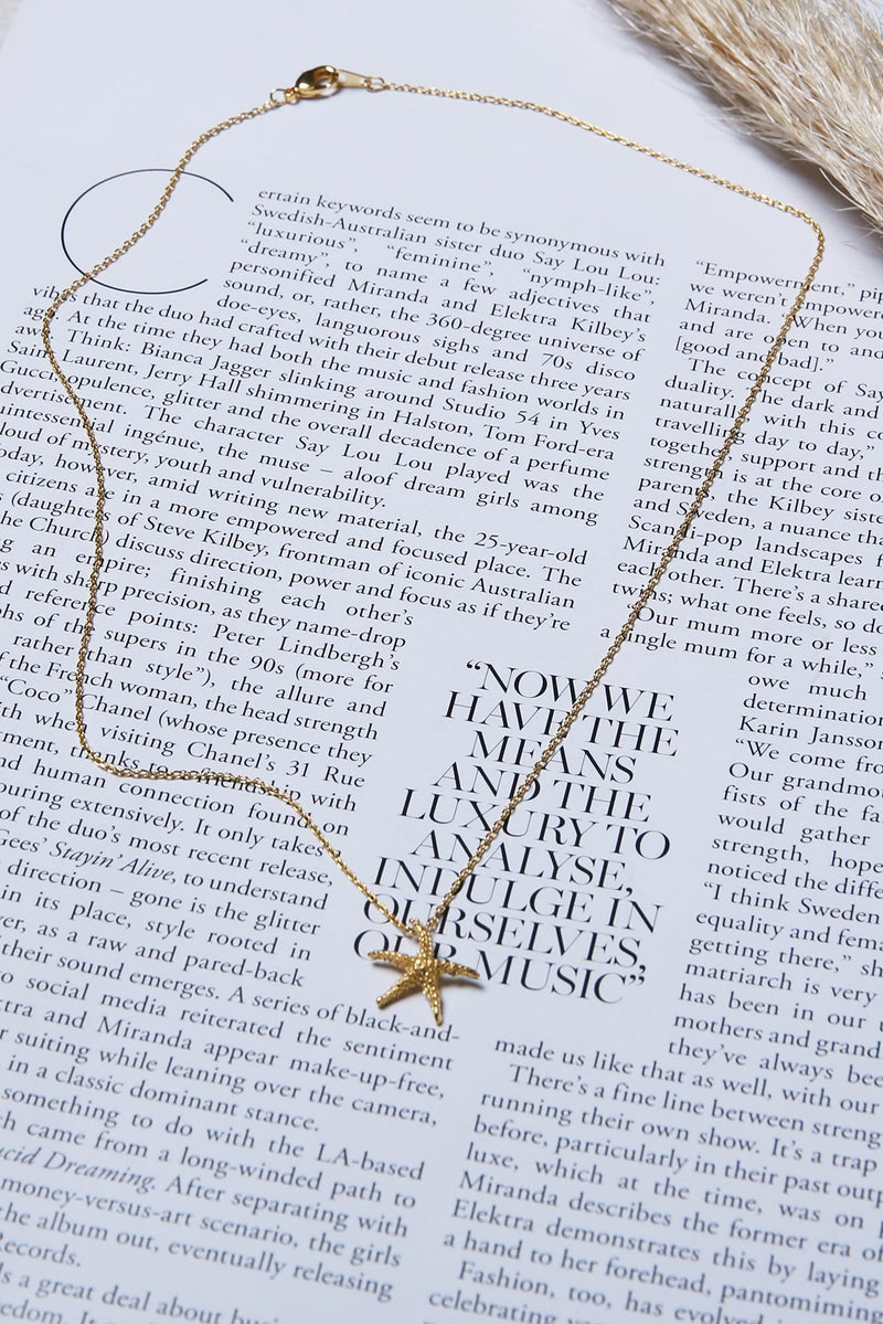 Starfish Necklace Gold Jolie & Deen - Jean Jail