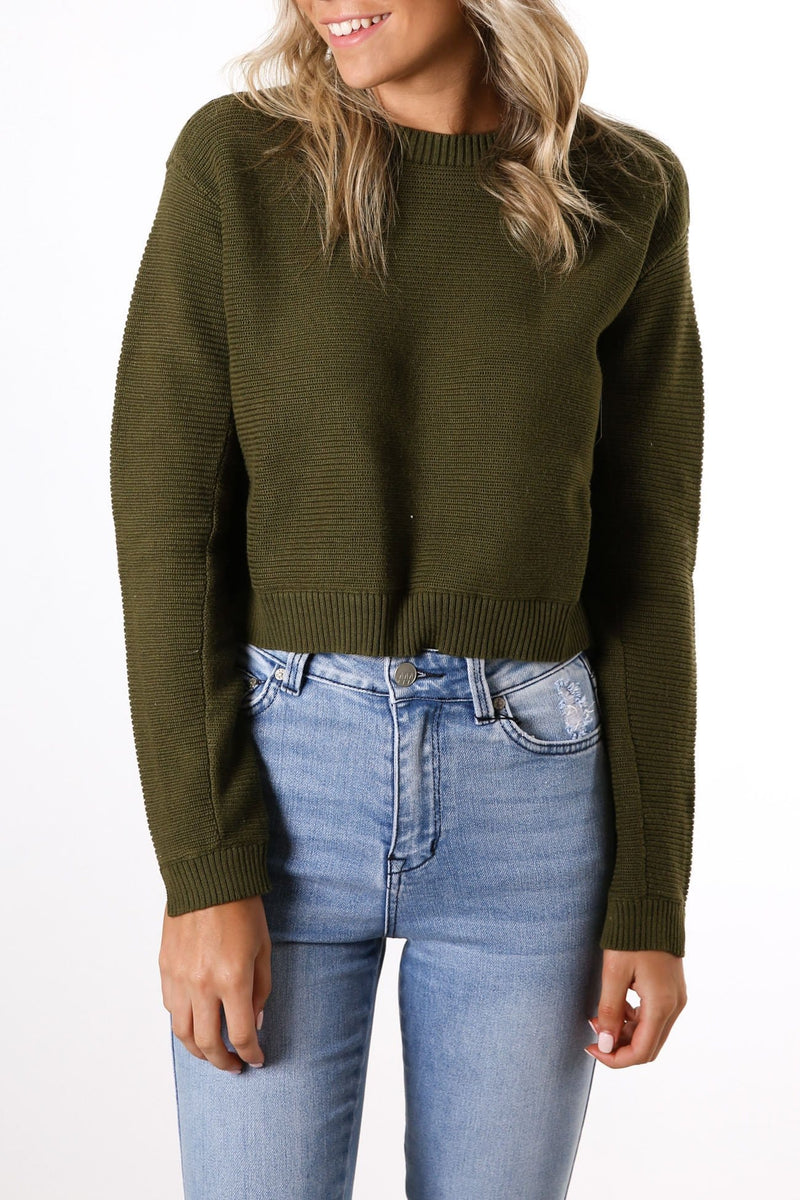 Sweater Weather Sweater Olive Canvas