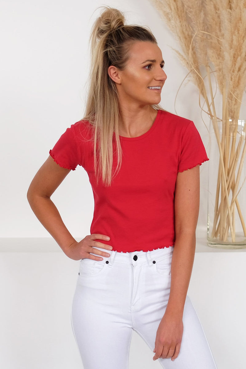 Take You Away Tee Red All About Eve - Jean Jail