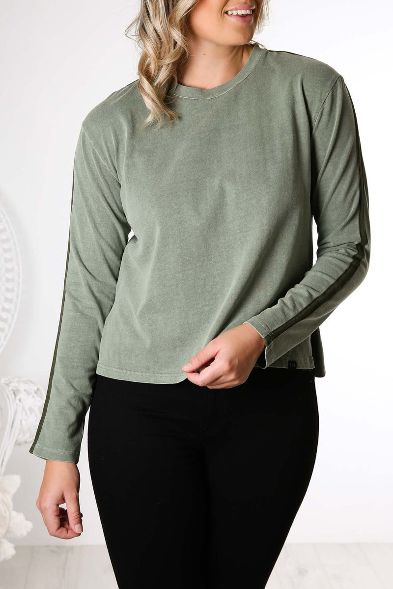 Tape Long Sleeve Tee Light Khaki All About Eve - Jean Jail