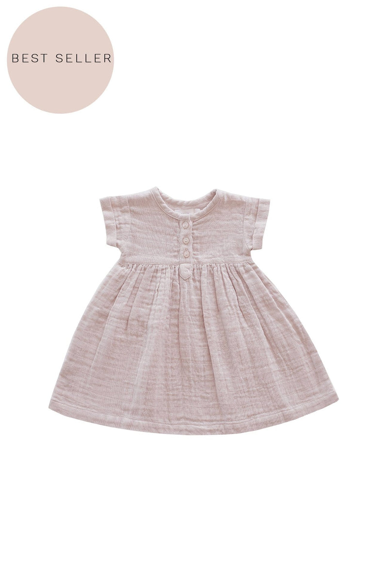 Tee Dress Candy Floss Organic Cotton Muslin