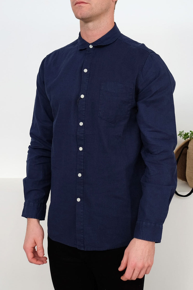 The General Long Sleeve Shirt Navy Ziggy - Jean Jail