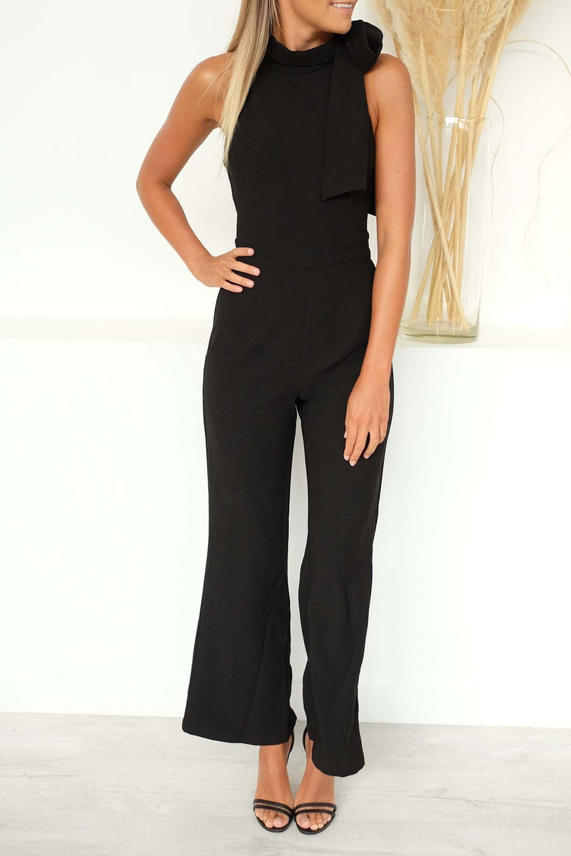 The New Direction Jumpsuit Black Mossman - Jean Jail