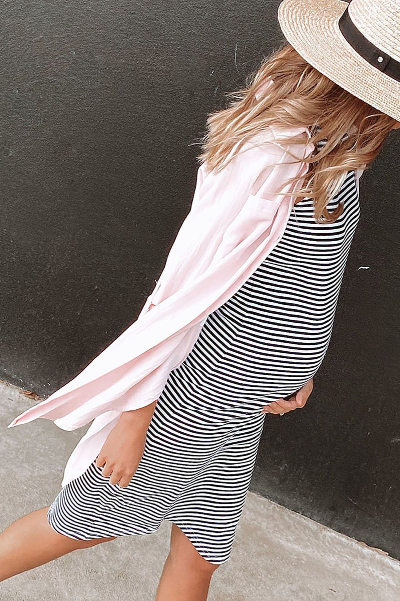 Maternity Sunday Best Long Sleeve Shirt Pink