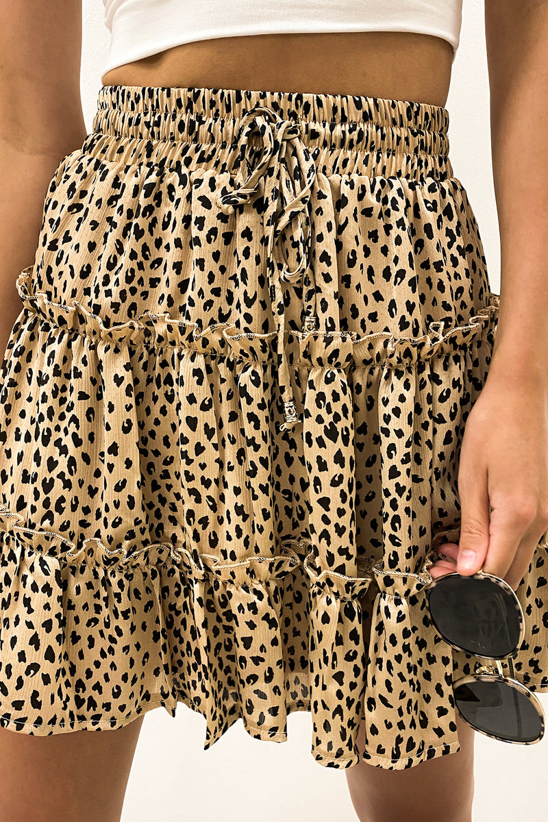 Thrill Seeker Skirt Leopard