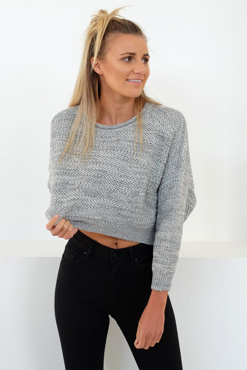 Time For Me Knit Jumper Grey Marle Jean Jail - Jean Jail
