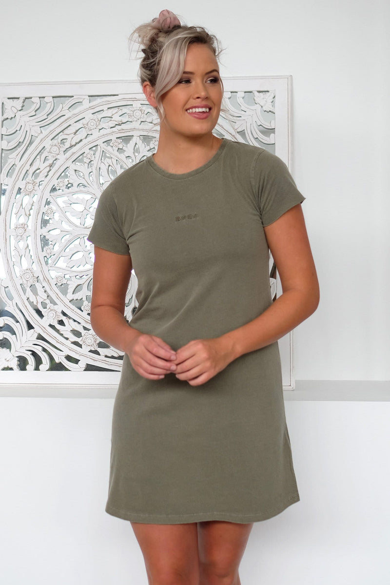 Tonally Mini RVCA Dress Olive RVCA - Jean Jail