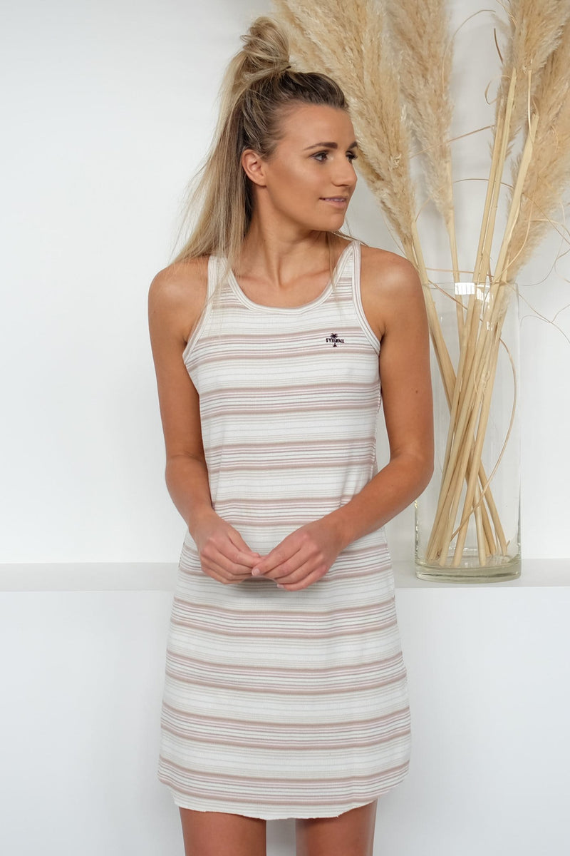 Topanga Tank Dress Stripe Thrills - Jean Jail