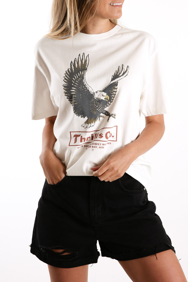 Traction Merch Tee Dirty White