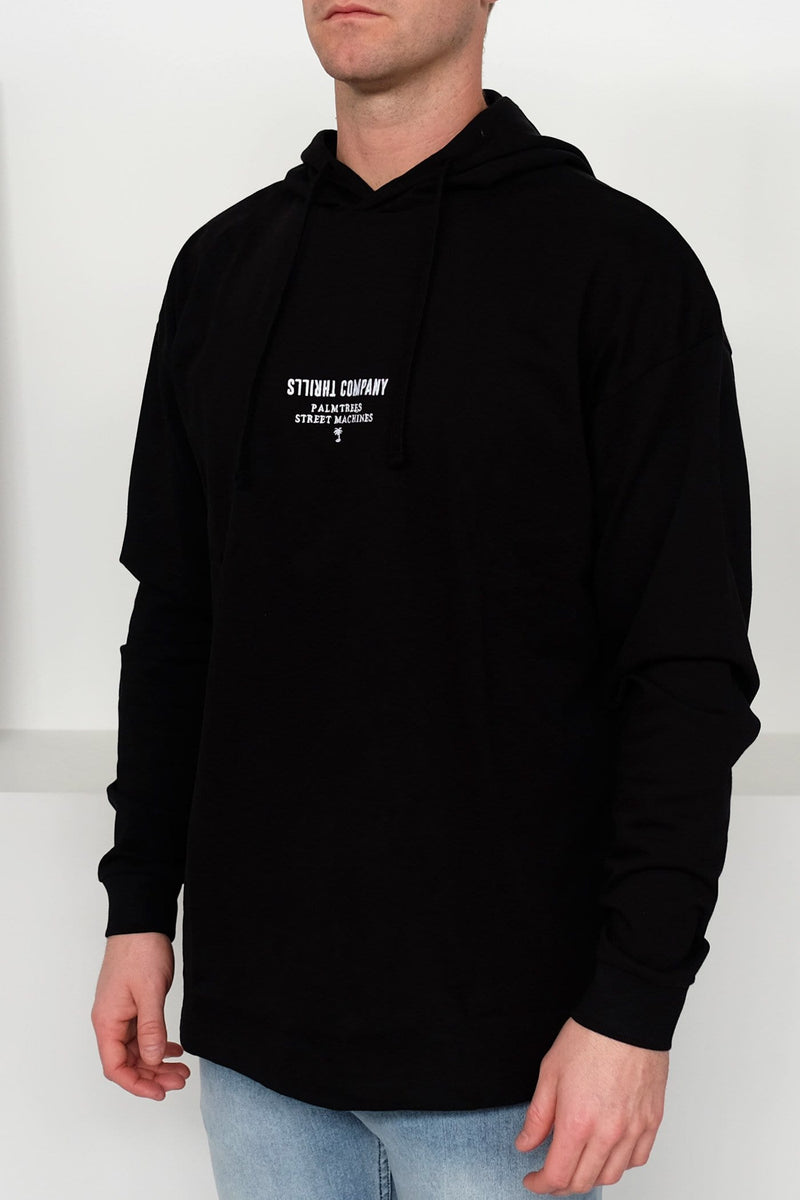 Trademark Hooded Long Sleeve Tee Black Thrills - Jean Jail