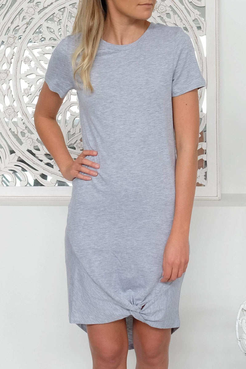 Maternity Isabelle Tee Dress White Marle