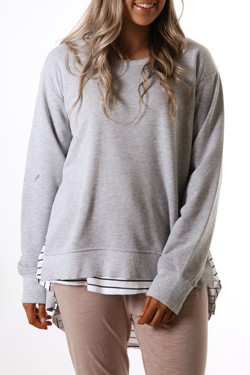 Ulverstone Sweater Grey Marle