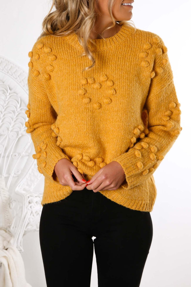 Unspoken Mystery Knit Yellow Jean Jail - Jean Jail