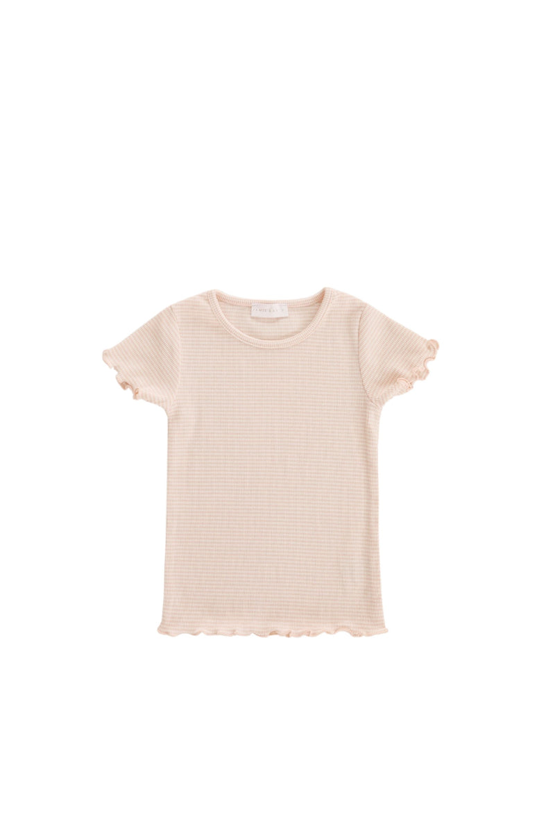 Lily Tee Peach Stripe