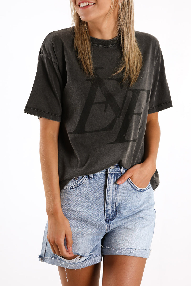 Vintage Eve Tee Washed Black