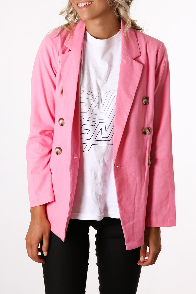 When Love Hurts Jacket Pink