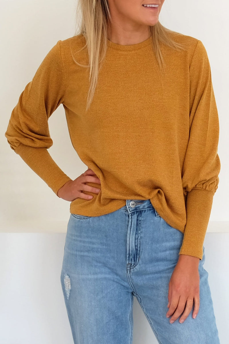 Whistle Long Sleeve Top Mustard The Fifth Label - Jean Jail