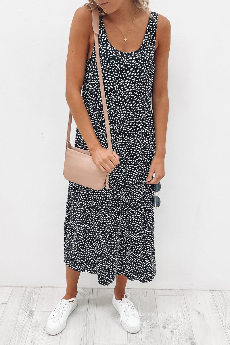 Whitney Midi Dress Print