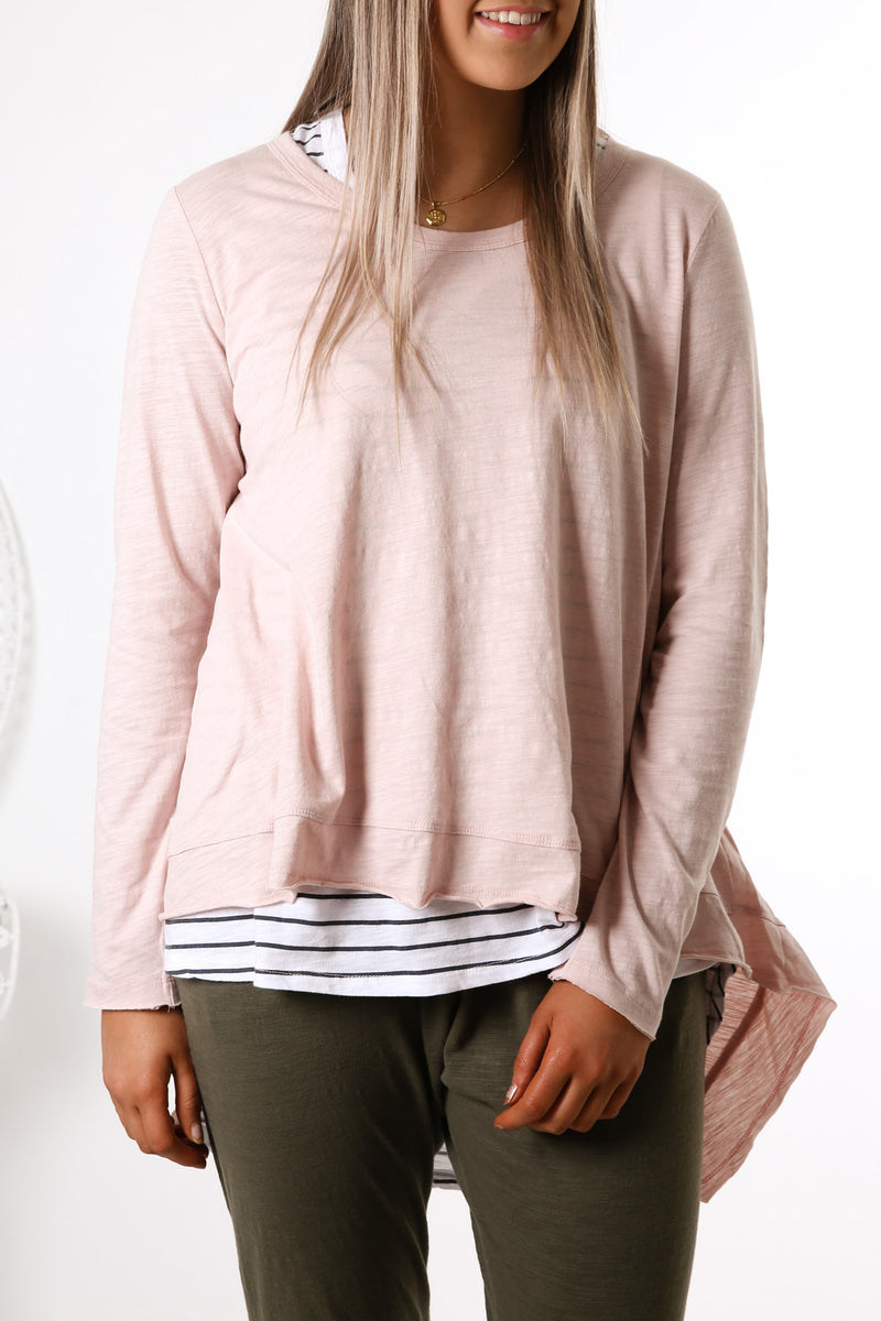 Willow Long Sleeve Top Blush Marle