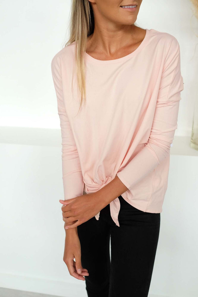 Willow Knot Top Blush Betty Basics - Jean Jail