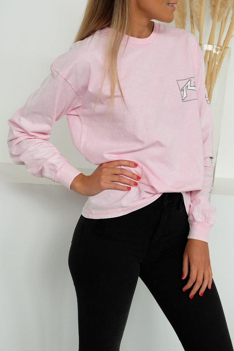 Wired Long Sleeve Tee Note Pink Rusty - Jean Jail